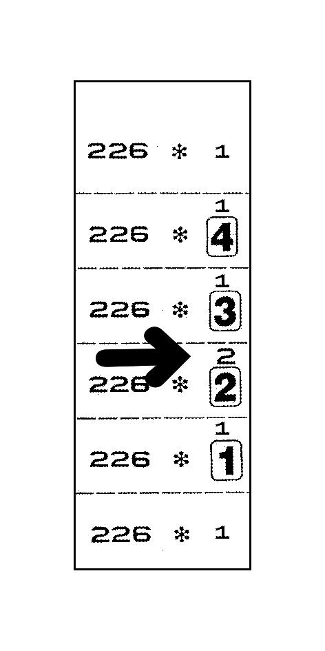 Quickmarker mit Seriennummer