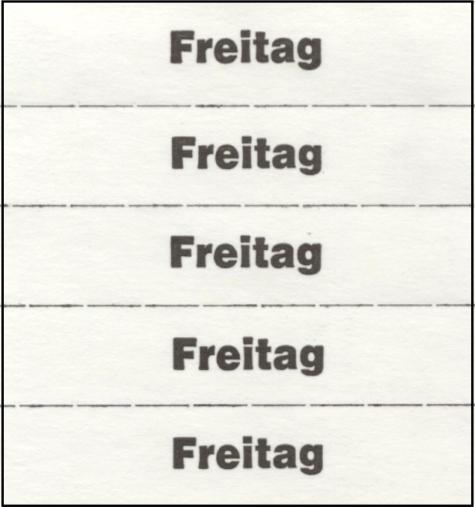 Markierungszettel FREITAG